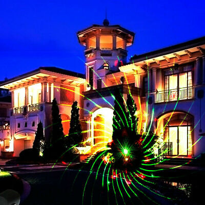 Projection lamp Light Outdoor Indoor Waterproof Red & Green Landscape Lights ()