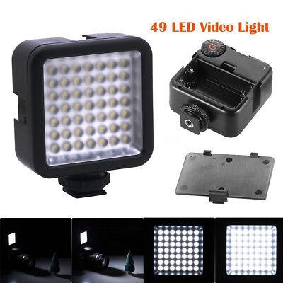 W49 Interlock Kamera LED Videoleuchte Panel Dimmable Camcorder für Canon DSLR DV