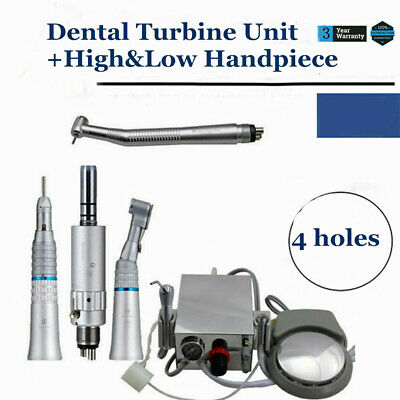 Dental Portable Air Turbine Unit For Compressor 4 Hole High Low Speed Handpiece