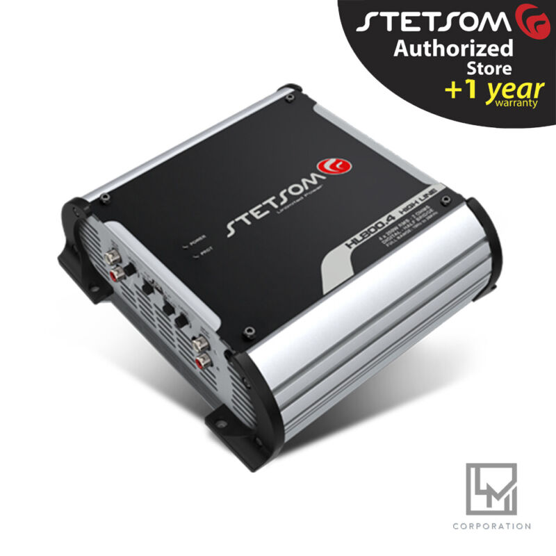 Stetsom Hl 800.4 2 Ohms 4 Channel Amplifier High Voltage - 3 Day Delivery