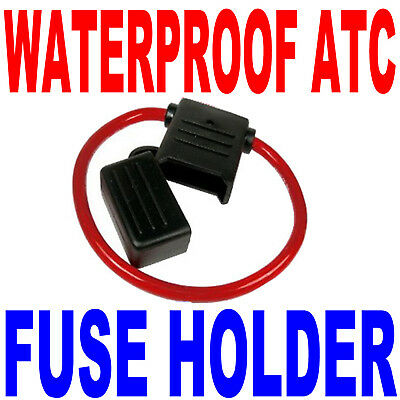 10GA WATERPROOF ATC BLADE STYLE FUSE HOLDER W/COVER