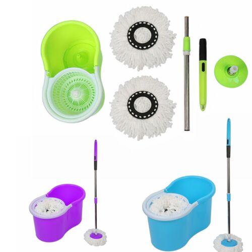 Wischmop Bodenwischer Reiniger Mop Komplett-Set 360° Eimer Schleuder 3 Farbe