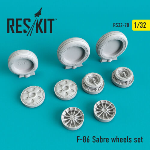 F-86 Sabre wheels set  (Resin Upgrade set) 1/32 ResKit RS32-0078