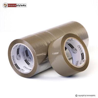 Klebeband Paketband Tape hochfest Leise 48mmx66m 6 er Pack braun