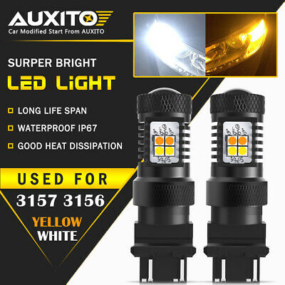 AUXITO 3157 LED Switchback Dual Color White Yellow amber Turn Signal Light 16K A