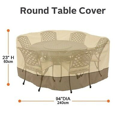 "94"" Veranda Patio Set Cover Table & Chair Outdoor Garden Furniture Round , Large"