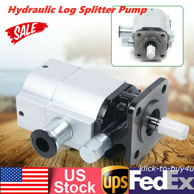 New Wood Hydraulic Log Splitter Pump 2 Stage Hi Lo Gear Pump For Logsplitter
