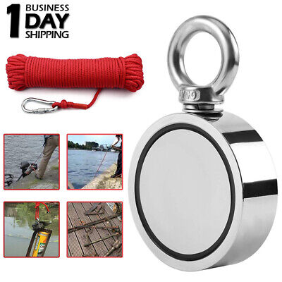 Pulling Force Upto 1300 Lbs Double Sided Neodymium Fishing Magnet Rope Carabiner