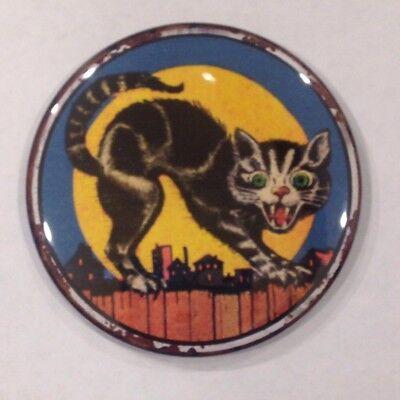 Halloween Cat On A Fence Vintage Style Fridge Magnet Buy 1 Get 1 FREE