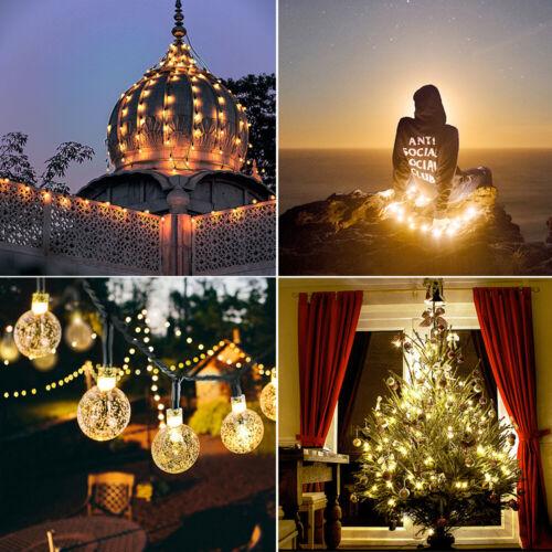21FT Outdoor String Lights 30 LED Solar Bulb Patio Party Yard Garden Wedding 3