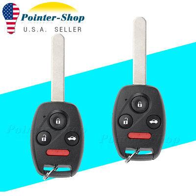 2 For Honda Civic EX SI 2006 2007 2008 2009 2010 2011  Remote Car Key Fob