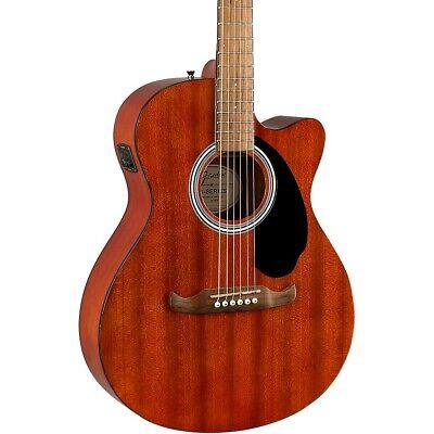 Fender FA-135CE All-Mahogany Concert Acoustic-Electric Guitar Mahogany