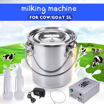 5l Automatically Stop Vacuum Impulse Cowgoat Milking Machine Electric Milker Y