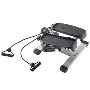 NEW Sunny Health  Fitness Twister Stepper with LCD Monitor and Resistance Cords - NO. 045 Condtion: New