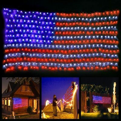 LED Flag Net Lights American Flag Light For Festival Indoor/ Outdoor Decoration](Lights For Decorations)