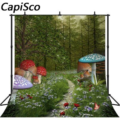 Fairy Tale Forest Photography Backdrops Kids Mushrooms Photo Backgrounds 379 ()