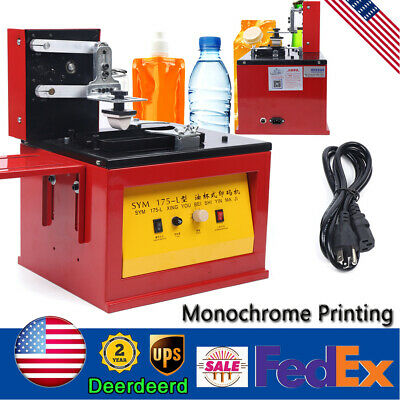 Electric Pad Printer Printing Machine For Logo Trademark Barcode Batch Date Usa