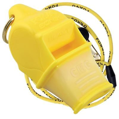 YELLOW Fox 40 SONIK BLAST CMG Whistle Official Coach Safety Rescue FREE