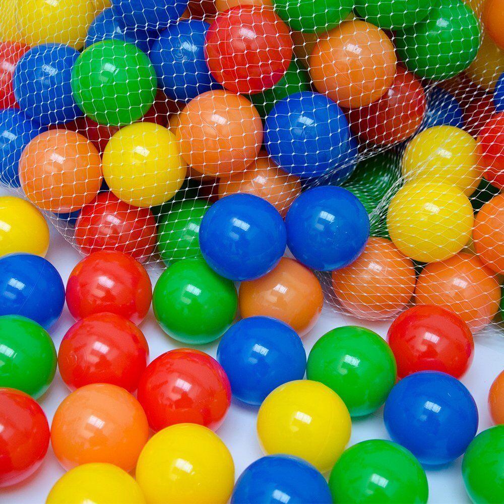 100 Palle in plastica colorate gioco bambini palline morbide piscina gonfiabili
