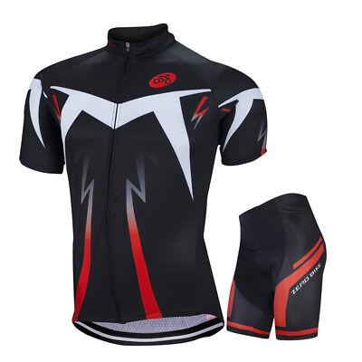 Mens Bike Road Team Reflective Casual Cycling Gear Jersey Kits Short Sleeve