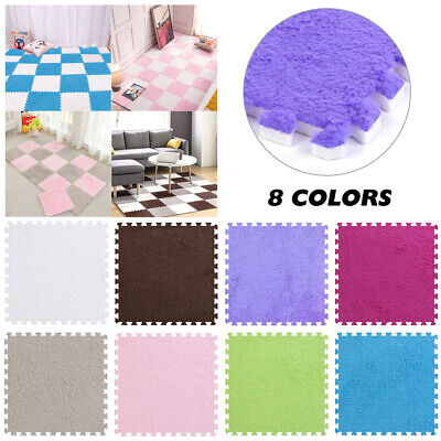 20Pcs Eva Foam Mats Soft Velvet Floor Tiles Interlocking Play Kids Baby Mats US Foam Flooring Kids