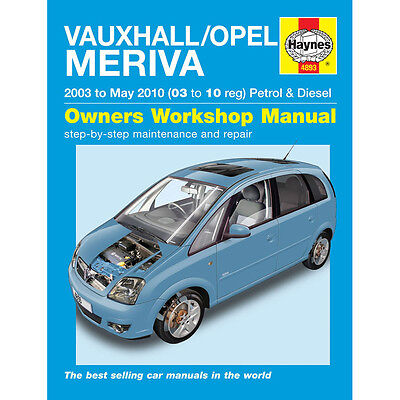Vauxhall Meriva 1.4 1.6 1.8 Pet 1.3 1.7 Dsl 03-10 (03 to 10 Reg) Haynes Manual