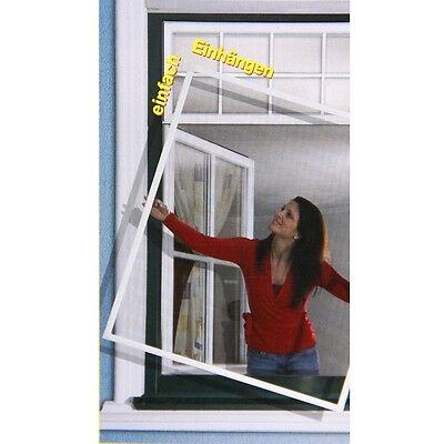 Insektenschutz Fliegengitter Fenster Alu Rahmen 120x150cm Braun Rhino Screen 304