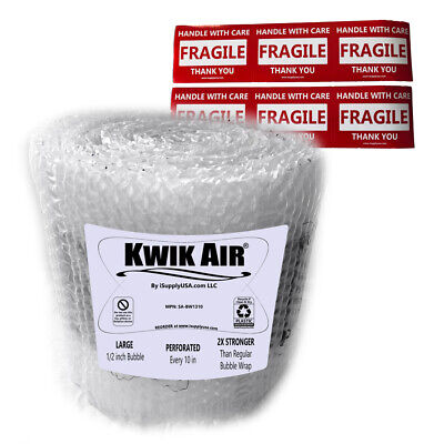 Kwikair Bubble Cushion Wrap Roll 50 X 14 Medium 516 Bubbles Perforated 10