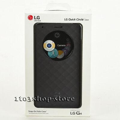 LG Quick Circle Snap-On Folio Hard Shell Case Cover For LG G4 Matte Sliver Black comprar usado  Enviando para Brazil