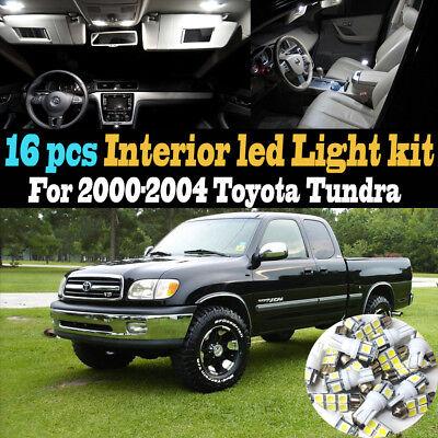 03 Toyota Tundra Led (16Pc 6000k White Interior LED Light Bulb Kit Package for 2000-2004 Toyota)