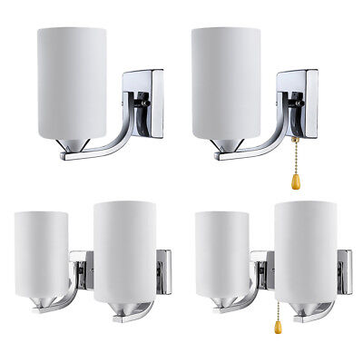 Cylinder Shade Matte Glass Porch Wall Fixtures Single Light Sconce Indoor Decor White Cylinder Shade