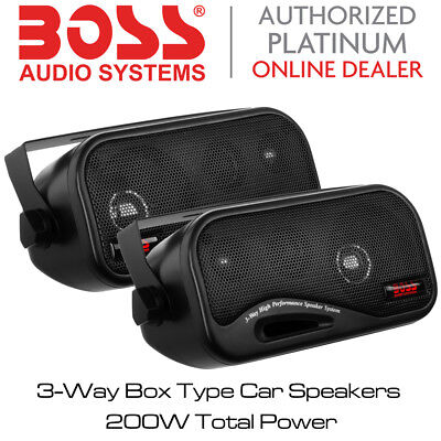 Boss Audio AVA-6200 - 3-Way Box Type Car Speakers 200W Total Power BNIB](Cheap Xmas Gift Boxes)