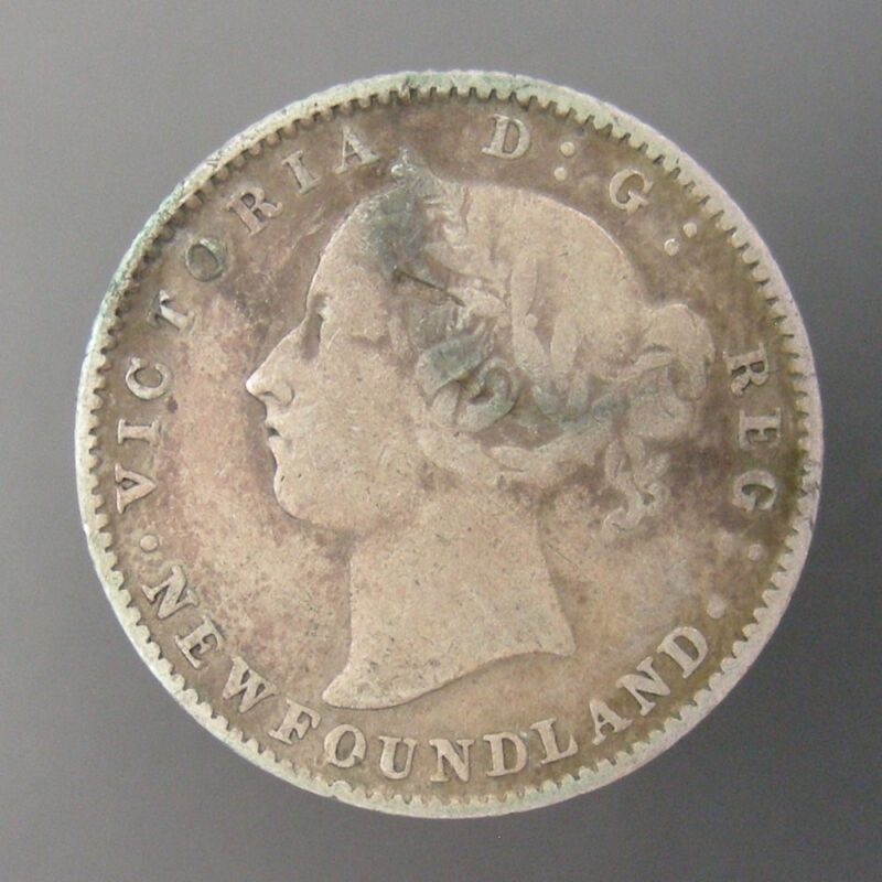 Newfoundland Victoria 10c Ten Cents Silver 1890
