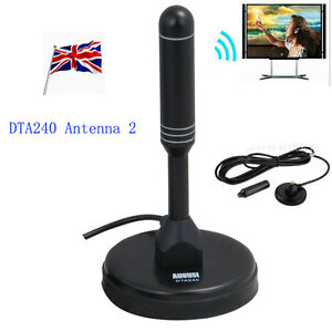 UK August DTA240 - HighGain TV Aerial For DAB Freeview  DAB Radio /w Magnet base