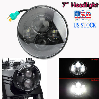 7 INCH MOTORCYCLE PROJECTOR DAYMAKER LED LIGHT HID BULB HEADLIGHT For Harley