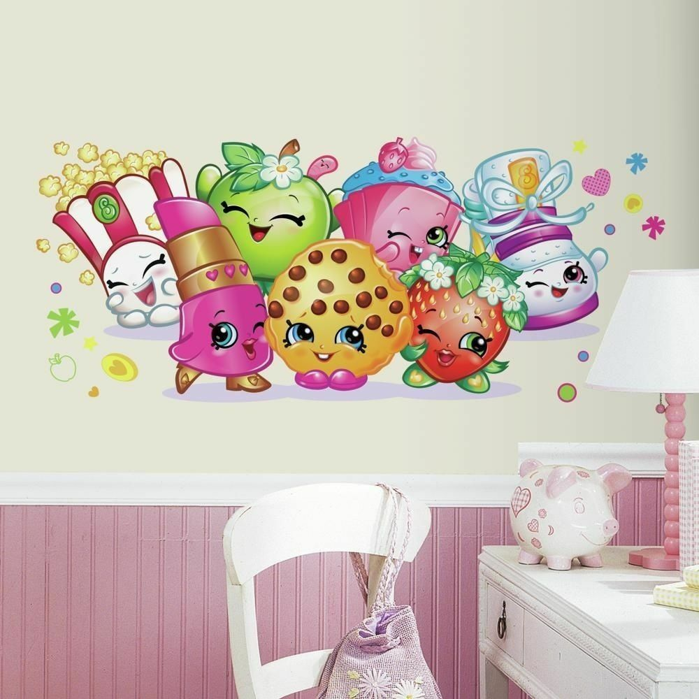 Shopkins Pals Giant Wall Decals Girls Bedroom Peel & Stick Stickers Decor
