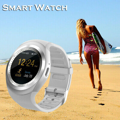 Women Blue-tooth Smart Watch Touch Screen Wristband Fitness Tracker For Android