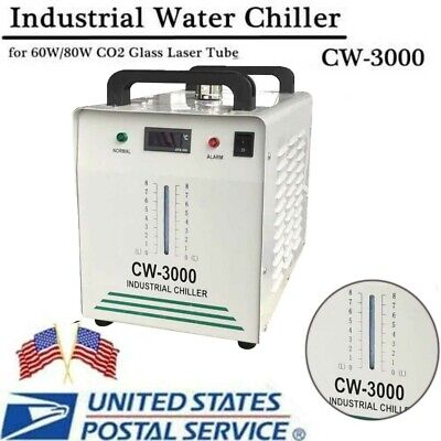 Topcw3000 Industrial Water Chiller 9l For Co2 Laser Tube Of Engraving Machine