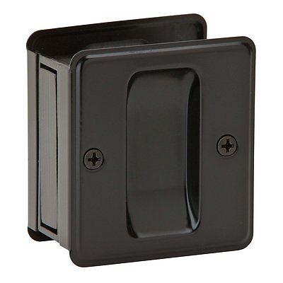 Oil Rubbed Bronze Pocket Sliding Door Passage Handle Pull Hardware Building & Hardware