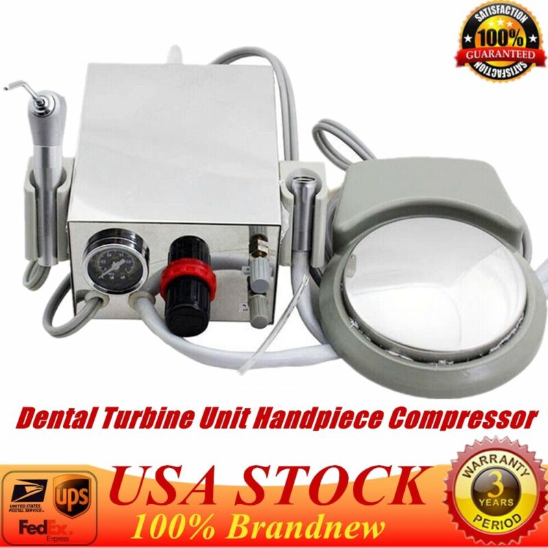 Dental Portable Air Turbine Unit 2hole work with Compressor 3-Way Syringe