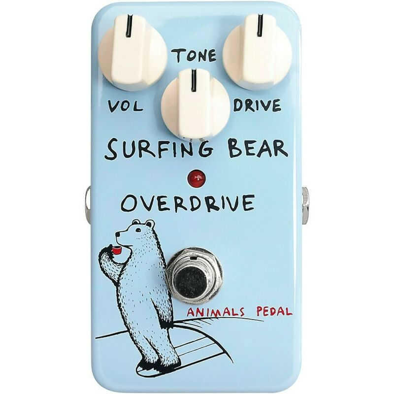 Animals Pedal Surfing Bear Overdrive Effects Pedal 194744410314 OB