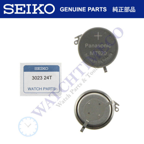 Seiko Kinetic Watch Capacitor Battery 302324T for 5M54 5M62 5M63 5M65 7L22 YT57