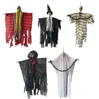 Haloween Hanging Decorations 24 inch Scary Pirate Witch Prisoner Reaper Ghost (Scary Haloween)