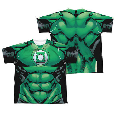 GREEN LANTERN COSTUME Kids Boys Girls Licensed Tee Shirt SM-XL Halloween - Green Lantern Girl Costume