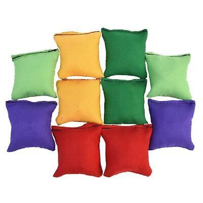 10X Toy Sandbag Bean Bag Kids Toss Game Toy Gifts Throwing Sandbag Ball Outdoor - Kids Bean Bag Toss