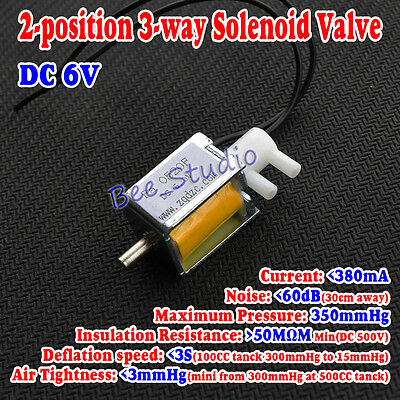 Dc 6v 2-position 3-way Mini Electric Control Solenoid Valve For Gas Air Pump New