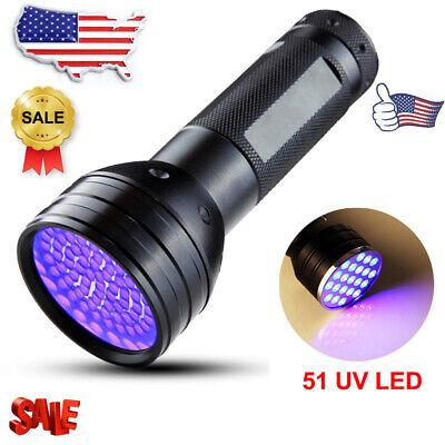UV Ultra Violet 51LED Flashlight Blacklight Light 395nM Inspection Lamp Torch EN