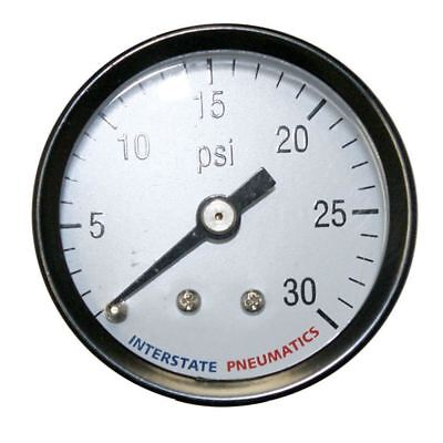 Mini Air Pressure Gauge Rear Back Mount 0-30 Psi - 18 Inch Npt Thread Mounted