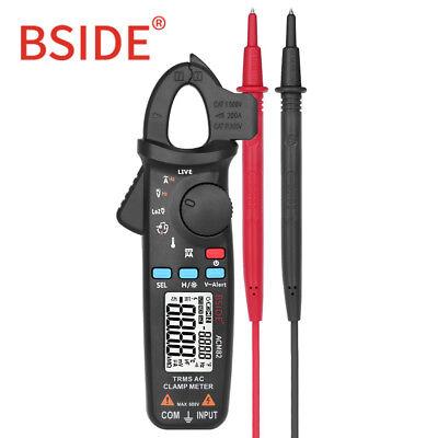Bside Acm82 Mini Digital Ac Clamp Meter Trms Auto Range 0.001a Temp Ohm V-alert