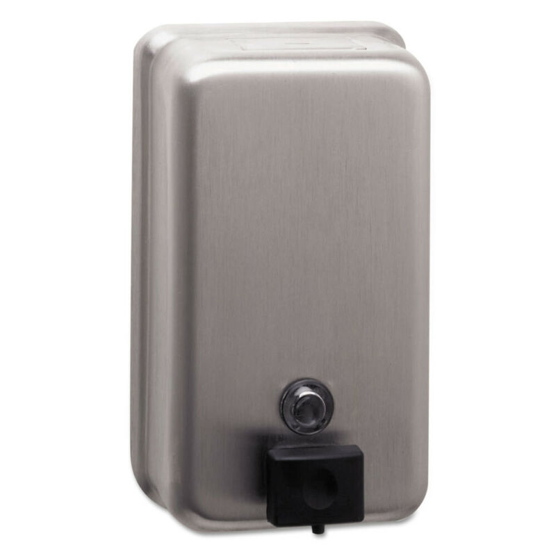 Bobrick Classicseries Surface-Mounted Soap Dispenser, 40oz, Stainless Steel  211